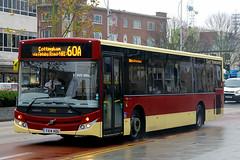 YX14 HDU, Ferensway, Hull, November 27th 2014 (Southsea_Matt) Tags: yx14hdu 382 route60a mcv evolution volvo b7rle eyms eastyorkshiremotorservices unitedkingdom yorkshire hull england ferensway november 2014 autumn canon 60d sigma 1850mm bus omnibus transport