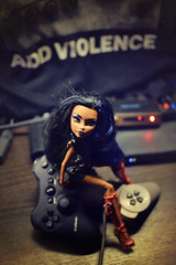 Are you Less Than? (GothGeekBasterd) Tags: mattel monsterhigh doll robecca steam basic add violence nine inch nails trent reznor 17th may rock industrial gamepad freak ghoul robot robotic