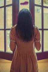 movie (Kathy Chareun) Tags: art arte fineart ps photoshop lr lightroom lady dress vestido window vent ventana colour color autoretrato selfportrait feather pluma day dia pink rosa violet violeta purple purpura light luz skin piel hair pelo concept conceptual concepto yellow amarillo