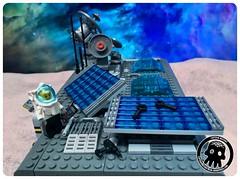 48-11 Solar Panel Maintenance (captainmutant) Tags: afol classic space lego ideas legospace legography photography minifig minifigs minifigure minifigures moc sciencefiction science fiction scifi exploration brickography toy custom