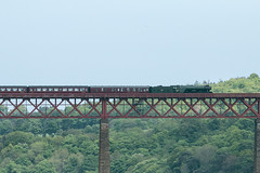 Flying Scotsman on Forth Bridge  38 (Bill Cumming) Tags: fife forthbridge riverforth steamtrain flyingscotsman