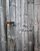 (Neil Bryce) Tags: sony rx100 whitby carpark shed door wood lock neglect decay