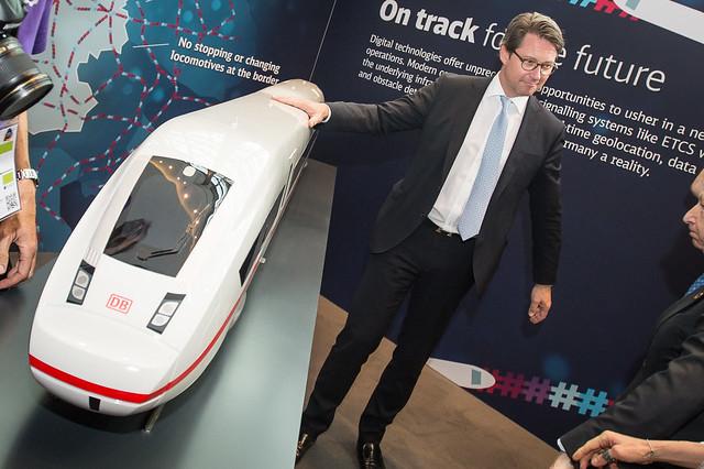 New Minister Promotes Deutsche Bahn ICE Train