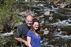 Kevin & Melissa at Treasure Falls (Bill Jacomet) Tags: road to durango co colorado travel trip drive 2018 kevin and melissa at treasure falls