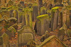 Il vecchio cimitero / The old cemetery (Old Jewish Cemetery, Prague, Czech Republic) (AndreaPucci) Tags: old jewish cemetery prague czechrepublic josefov golem