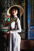 Young vietnamese lady with vietnam culture tranditional- dress Ao dai (Patrick Foto ;)) Tags: adult ao asia asian attractive beautiful beauty chinese coffee costume culture dai day dress drink face famous fashion female girl hair happy hat lady lifestyle natural nature outdoor people person portrait pretty spring standing style tourism tradition traditional travel vacation vietnam vietnamese vintage woman young