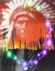 Ghost Dance (ICARUSISMARTDESIGNS) Tags: portrait indian native american trendy vintage fantasy contemporary retro cool pattern modern famous art dance ghost freedom electric rainbow color red love music nature water landscape flower sunset sky secret artist digital blue abstract new white flowers bright geek fractal artistic graphic vivid creative unique colorful popular