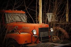 Brockway (jtr27) Tags: dsc7976 sony alpha nex nex5n emount mirrorless pentax takumar smc 50mm f14 manualfocus old truck antique classic junkyard brockway maine bickford yarmouth