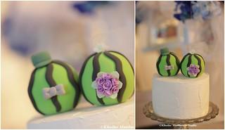 Handmade watermelon bride and groom MochiEgg wedding cake topper, custom wedding cake decoration ideas