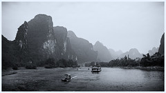 Misty Day on the Yanshuo Li River, Guilin China (A-Still-Moment) Tags: olympus omd em1 mark ii 12100 f40 china guilin yanshuo li river