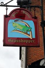 Pub sign for the Grasshopper on the Green, Westerham. (Peter Anthony Gorman) Tags: pubsigns westerham kentpubs grasshopper