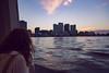 Sunset Ferry to NOLA (matthewkaz) Tags: aimee ferryboat ferry boat river water sunset sky clouds mississippiriver skyline algiers algiersferry neworleans city buildings nola louisiana 2018