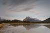 The Imaginary Stretch of Time (Zur@imiAbro@d) Tags: landscape alberta banffnationalpark rockies mountrundle vermilionlakes reflection twilight longexposure clouds streak 10stop zurimiabrod