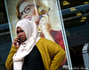 `2279 (roll the dice) Tags: london nw6 brent camden kilburn pretty mad sad fun funny surreal people fashion streetphotography hot sunny weather classic uk art england urban unaware unknown portrait stranger candid canon tourism tourists woman somalia advertising phone mobile talk glasses muslim headscarf face behind happy shock reaction bored shops shopping