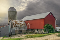 Silenced (henryhintermeister) Tags: barns wisconsin oldbarns clouds farming countryliving country sunsets storms sunrises pastures nostalgia skies outdoors seasons field hay silos dairybarns building architecture outdoor winter serene grass landscape plant cloudsstormssunsetssunrises westbendwi