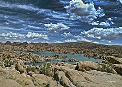 At The Granite Dells (vgphotoz) Tags: vgphotoz clouds watsonlake arizona lake lowwater granitedells payson nature hills usa
