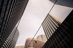 San Francisco_looking up, Financial District (kkorsan) Tags: california sanfrancisco financialdistrict buildings architecture travelphotography unitedstates cityscape skyscrapers lines sky building
