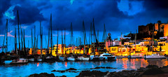 2969TS Naxos By Night (foxxyg2) Tags: blue bluehour topaz topazsoftware chora poer yachts boats naxos cyclades greece greekislands islandhopping islandlife impressions