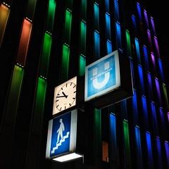 stadtbahn - essen (dan.boss) Tags: blue x100f stadtbahn night essen nrw