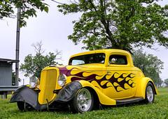 Ford 3 Window Coupe (J Wells S) Tags: ford 3windowcoupe streetrod hotrod flames magwheels cincystreetrodscarshowandswapmeet butlercountyfairgrounds hamilton ohio oldschool