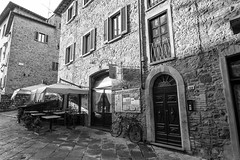 Volterra streets (Mancini photography) Tags: street monochrome buildings contrast shadows lights wide
