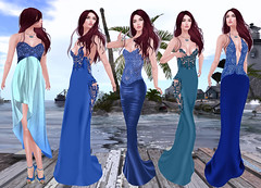 LuceMia - Celestina's Weddings (MISS V♛ ITALY 2015 ♛ 4th runner up MVW 2015) Tags: celestina'sweddings secondlife sl mesh creations event theblueheartevent celestinas fanny locu asteele corleone gown elegance exclusive mvw2018 blue formal beauty blog models miss lucemia