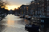 Sunset on Prinsengracht (-Kj.) Tags: amsterdam prinsengracht canal sunset boat bridge spring