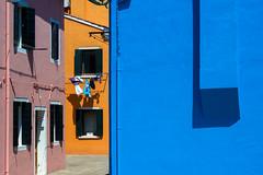 United Colors of Burano 1/4 (Roberto Spagnoli) Tags: burano venezia case houses shadow color minimalism windows italy geometries