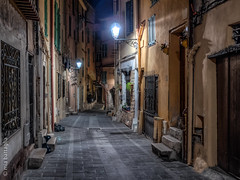 Mentone, France (Mia Battaglia photography) Tags: village france menton nightscape night urban camera:model=penf camera:make=olympus exif:make=olympus exif:model=penf exif:isospeed=1000 exif:lens=leicadgsummilux15f17 exif:aperture=ƒ17 exif:focallength=15mm