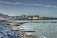 Aber seafront (Lonnie1963) Tags: aberystwyth sea beach view landscape constitution hill weather