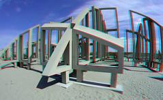 Observatorium Zandwacht Maasvlakte Rotterdam 3D GoPro (wim hoppenbrouwers) Tags: observatorium zandwacht maasvlakte rotterdam 3d gopro anaglyph stereo redcyan