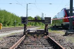 Prellbock in Lauda (Baureihe420.) Tags: lauda bundesbahn stillgelegt prellbock betriebswerk