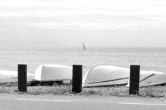 We are still on holiday. Please do not disturb! (Micheo) Tags: spain españa bnbw bwbn blancoynegro blackandwhite playa sea laherradura botes descanso resting sleep dormir mediterraneansea relax siesta nap