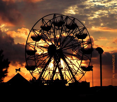 Deserted Carousel at sunset Ph. by White Angel (Angel & Jacob) Tags: whiteangel sunset tramonto lunapark carousel giostra ride photo photography fotografia foto picture cloudy clouds nuvole nuvola nuvoloso sky cielo ruota conceptual conceptualimage shockofthenew yourbestoftoday