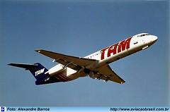 TAM Linhas Aéreas - PT-MRT (Aviacaobrasil) Tags: alexandrebarros tam fokker100 aeroportodecongonhas