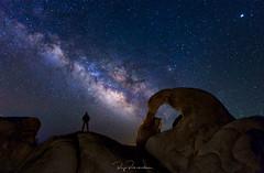 Alone in Lone Pine (rajaramki) Tags: milkyway nightphotography mobiusarch lonepine alabamahills night landscape astro astrophotography