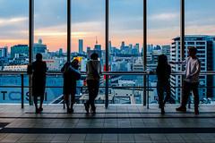 After work (mntkondr) Tags: shibuya japan tokyo hikarie sunset silhouette shinjuku man backside table counter fujifilm xh1 1025fav