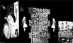 Si.......... (mamasuco) Tags: nikon d7000 paris graffitis streetart festiwal3 noiretblanc ngc canaldelourcq
