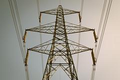 the grid (matt_in_a_field) Tags: pylon symmetry symmetrical wires grid tower sky tones soft pastel fuji fujinon fujifilm xt20