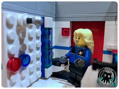 45-08 The Shower (captainmutant) Tags: afol classic space lego ideas legospace legography photography minifig minifigs minifigure minifigures moc sciencefiction science fiction scifi exploration brickography toy custom
