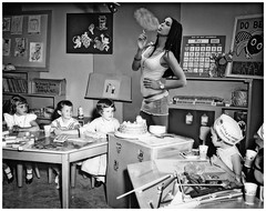 Regrettably, The 1960s' Romper Room TV Show was taken off the air for exemplifying 'inappropriate' conduct. I don't understand that. (Fotofricassee) Tags: childreneducationromperroomprogram room teacher kids romper tv show