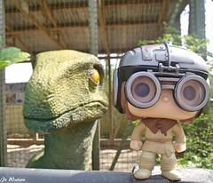 Anakin and Blue (JoeyDee83) Tags: star wars jurassic park world funko pop vinyl toy raptor anakin skywalker jungle