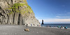 Reynisfjara (wyojones) Tags: iceland reynisfjall reynisfjara reynisdrangar reynir víkímýrdal vík beach blacksandbeach basalt coolingjoints columnarjoints coolingcracks columnarbasalt cooling contracting hexagonal erosion cliffs seastacks sand ocean atlanticocean legend troll spire rock