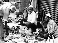 Tea Brake (bell.bb) Tags: tools footpath tea glass people city market hammer spanner asia india bangalore