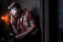 L'ouvrier (ARI.Photographie) Tags: working worker usine factory urbex flashlight smoker brique movie cinemalight cinema abandonned abandonnedbeauty abandonnedplace bizarre crazyboy rouge red retro toulouse topmodel urbain urbandecay urbanexploration urban oldschool old outside outdoor orange oldman portrait photography photoshoot photographer shooting strange studio dark darkness darkbeauty death dirty dandy frenchphotographer frenchmodel france nikond7100 nikon nikonfrance nikonfr life man mood model mannequin wicked experience colored colors vintage badass black boy night