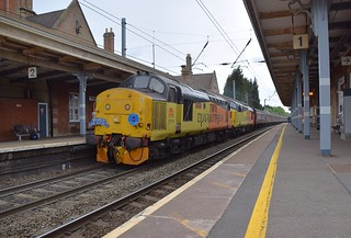 The Branchline Society 565 Tour from Carnforth, arriving at Stowmarket, where the train will reverse to reach its destination, Norwich. 12 05 2018