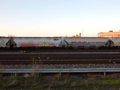 Trainwriting (aestheticsofcrisis) Tags: street art urban intervention streetart urbanart guerillaart graffiti postgraffiti rochester new york ny us usa trainwriting