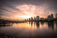 May 13, 2018. (Amanda Catching) Tags: today longexposure light city skyline vancouver false creek