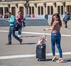 Pickpocket Bait (Emil de Jong - Kijklens) Tags: lady woman vrouw amsterdam kijkenmetkijklens gsm telefoon handy pickpocket iphone jeans spijkerbroek posing poseren people explore
