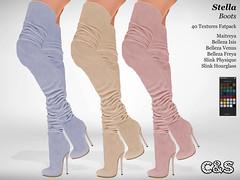 Chic & Shoes Stella Boots (Ona Loire) Tags: secondlife maitreya lara slink physique hourglass belleza venus isis freya high